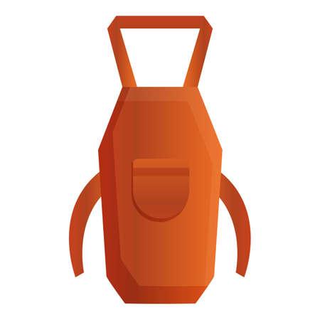 Blacksmith apron icon. Cartoon of blacksmith apron vector icon for web design isolated on white background