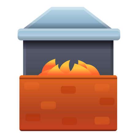 Blacksmith oven icon. Cartoon of blacksmith oven vector icon for web design isolated on white background Stock Illustratie