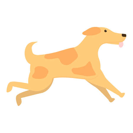 Running dog icon. Cartoon of running dog vector icon for web design isolated on white background