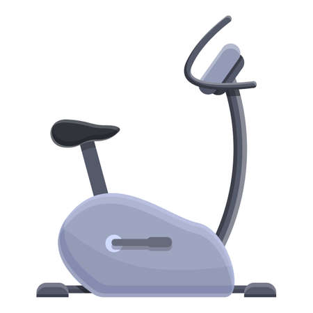 Exercise bike icon. Cartoon of exercise bike vector icon for web design isolated on white background