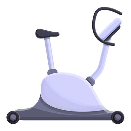 Modern exercise bike icon. Cartoon of modern exercise bike vector icon for web design isolated on white background