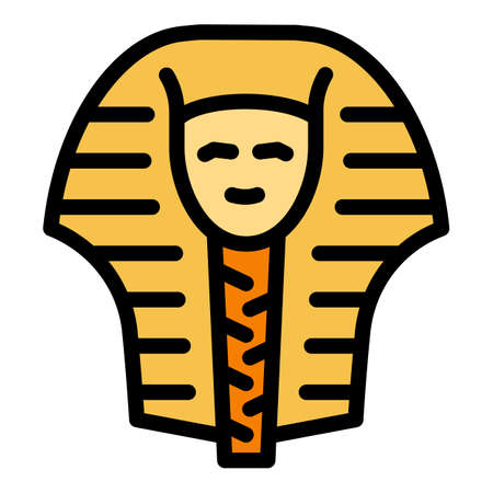 Egypt pharaoh icon. Outline Egypt pharaoh vector icon for web design isolated on white background