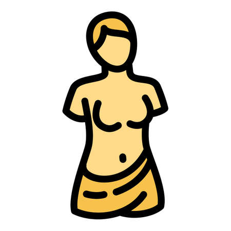 Ancient statue icon. Outline ancient statue vector icon for web design isolated on white background