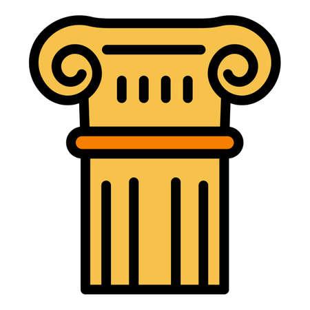 Roman column icon. Outline roman column vector icon for web design isolated on white background