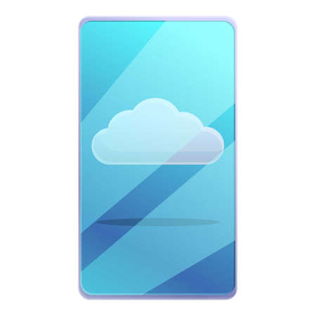 Remote smartphone cloud icon. Cartoon of remote smartphone cloud vector icon for web design isolated on white background