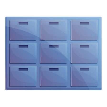 Storage documents archive icon. Cartoon of storage documents archive vector icon for web design isolated on white background