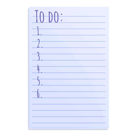 School to do list icon. Cartoon of school to do list vector icon for web design isolated on white background Vektorgrafik