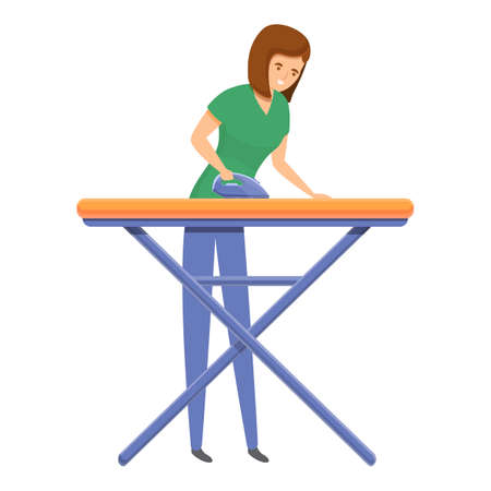 Ironing icon. Cartoon of ironing vector icon for web design isolated on white background