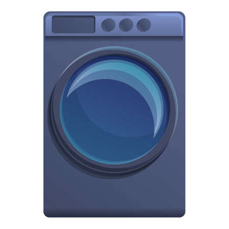 Home tumble dryer icon. Cartoon of home tumble dryer vector icon for web design isolated on white background