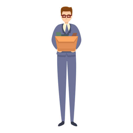 Jobless office manager icon. Cartoon of jobless office manager vector icon for web design isolated on white background