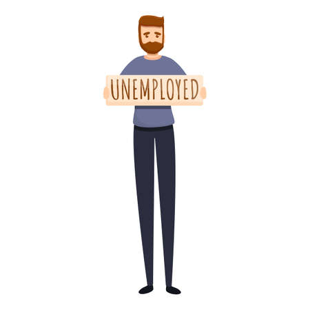 Jobless worker icon. Cartoon of jobless worker vector icon for web design isolated on white background 向量圖像