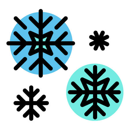 Ski resort snowflakes icon. Outline ski resort snowflakes vector icon for web design isolated on white background