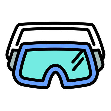 Ski glasses icon. Outline ski glasses vector icon for web design isolated on white background