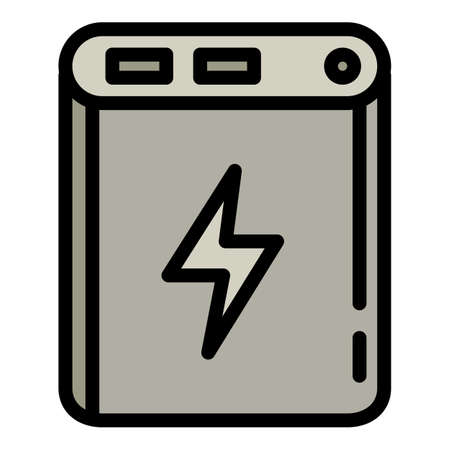 Quick charge power bank icon. Outline quick charge power bank vector icon for web design isolated on white background