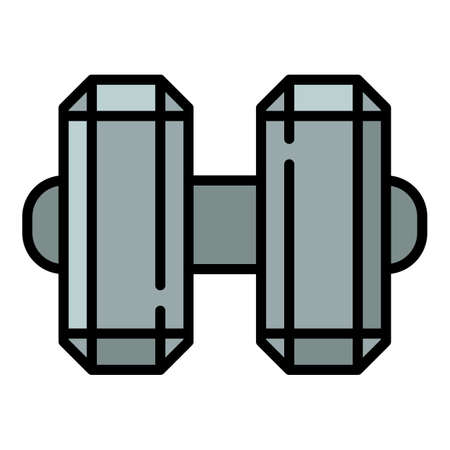 Steel dumbell icon. Outline steel dumbell vector icon for web design isolated on white background