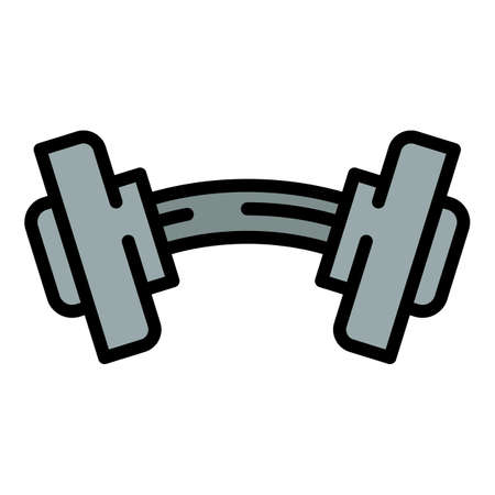 Damaged dumbbell icon. Outline damaged dumbbell vector icon for web design isolated on white background 向量圖像