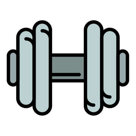 Weight dumbbell icon. Outline weight dumbbell vector icon for web design isolated on white background Illustration