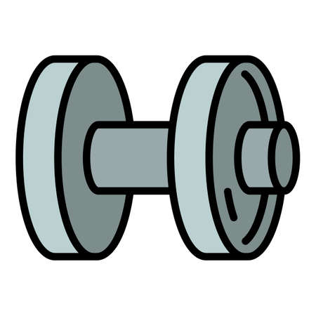 Sport dumbell icon. Outline sport dumbell vector icon for web design isolated on white background