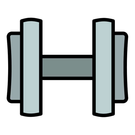 Holding dumbell icon. Outline holding dumbell vector icon for web design isolated on white background