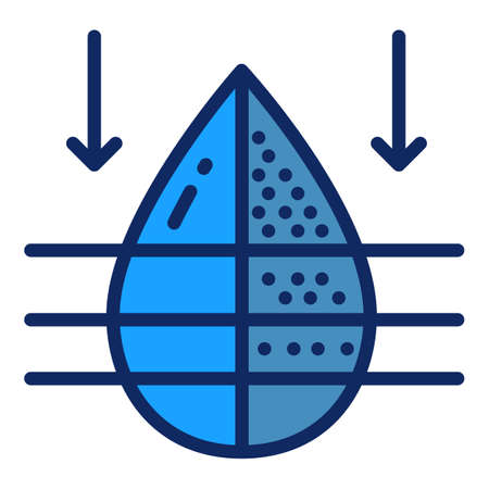 Water filter fresh drop icon. Outline water filter fresh drop vector icon for web design isolated on white background