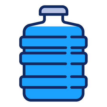 Filtered water bottle icon. Outline filtered water bottle vector icon for web design isolated on white background