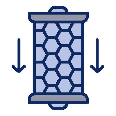 Carbon water filter cartridge icon. Outline carbon water filter cartridge vector icon for web design isolated on white background Ilustração