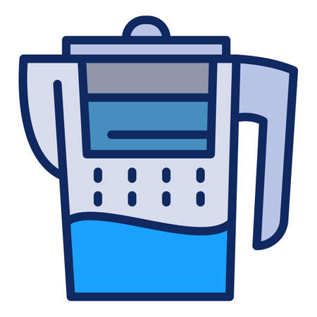 Water filter jug icon. Outline water filter jug vector icon for web design isolated on white background