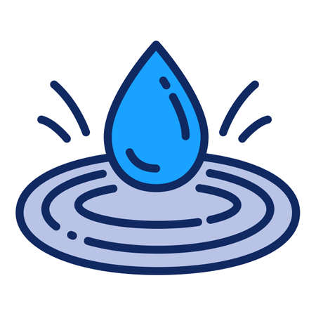 Water filter drop icon. Outline water filter drop vector icon for web design isolated on white background Ilustracja