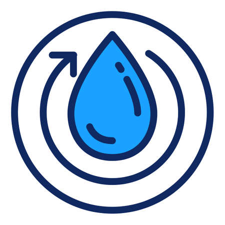 Recycle water filter icon. Outline recycle water filter vector icon for web design isolated on white background