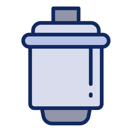 Water cartridge icon. Outline water cartridge vector icon for web design isolated on white background