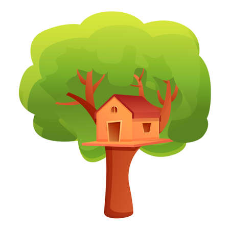 Park treehouse icon. Cartoon of park treehouse vector icon for web design isolated on white background