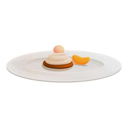 Dessert molecular cuisine icon. Cartoon of dessert molecular cuisine vector icon for web design isolated on white background