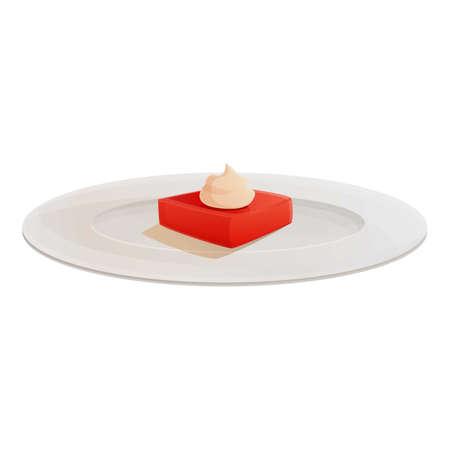 Cake molecular cuisine icon. Cartoon of cake molecular cuisine vector icon for web design isolated on white background