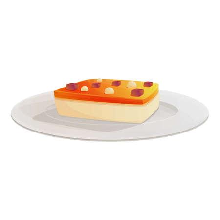 Cake food molecular cuisine icon. Cartoon of cake food molecular cuisine vector icon for web design isolated on white background Ilustração