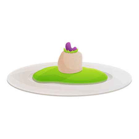 Eco molecular cuisine icon. Cartoon of eco molecular cuisine vector icon for web design isolated on white background Ilustração