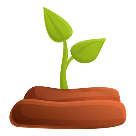 Fertilizer plant icon. Cartoon of fertilizer plant vector icon for web design isolated on white background
