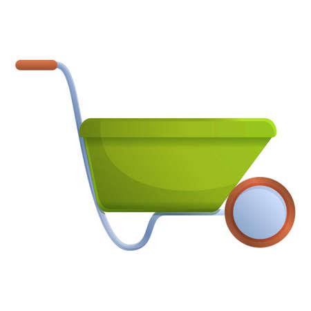 Soil wheelbarrow icon. Cartoon of soil wheelbarrow vector icon for web design isolated on white background