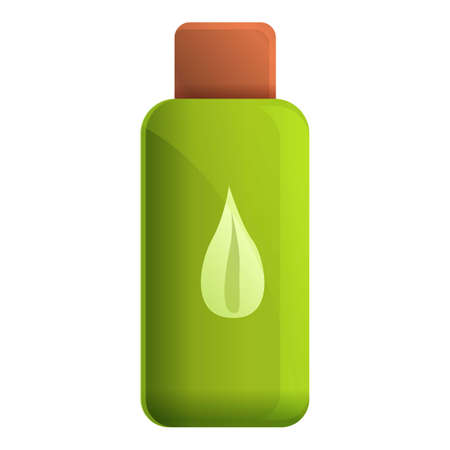 Fertilizer plant pot bottle icon. Cartoon of fertilizer plant pot bottle vector icon for web design isolated on white background Ilustração