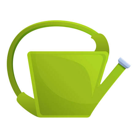Garden watering can icon. Cartoon of garden watering can vector icon for web design isolated on white background Vecteurs