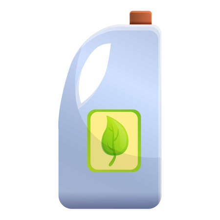 Fertilizer compost bottle icon. Cartoon of fertilizer compost bottle icon for web design isolated on white background