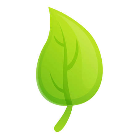 Eco tree leaf icon. Cartoon of eco tree leaf icon for web design isolated on white background
