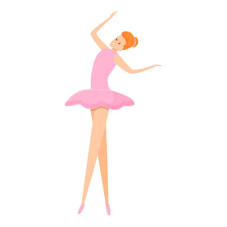 Ballerina practice icon. Cartoon of ballerina practice icon for web design isolated on white background