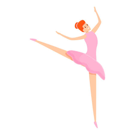 Ballerina stage icon. Cartoon of ballerina stage icon for web design isolated on white background