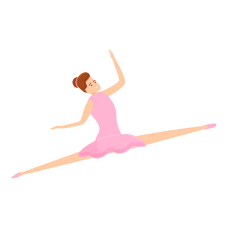 Ballerina girl icon. Cartoon of ballerina girl icon for web design isolated on white background