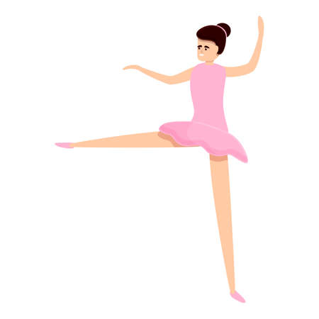 Ballerina shoe icon. Cartoon of ballerina shoe icon for web design isolated on white background Illustration