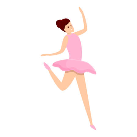 Ballerina elegance icon. Cartoon of ballerina elegance icon for web design isolated on white background Illustration