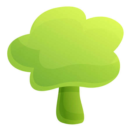 Farm broccoli icon. Cartoon of farm broccoli icon for web design isolated on white background