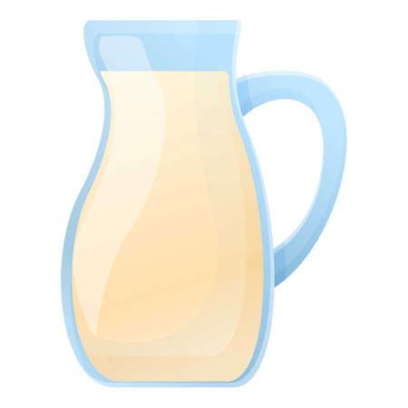 Farm milk jug icon. Cartoon of farm milk jug vector icon for web design isolated on white background  イラスト・ベクター素材