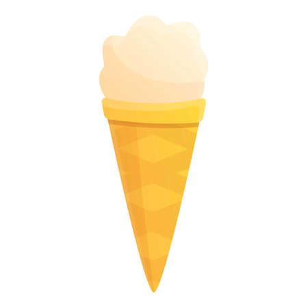 Ice cream cone icon. Cartoon of ice cream cone vector icon for web design isolated on white background