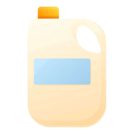 Farm milk canister icon. Cartoon of farm milk canister icon for web design isolated on white background Illustration